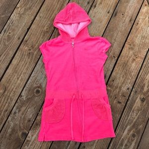 Girls Justice Hot Pink Bathing Suit Cover up